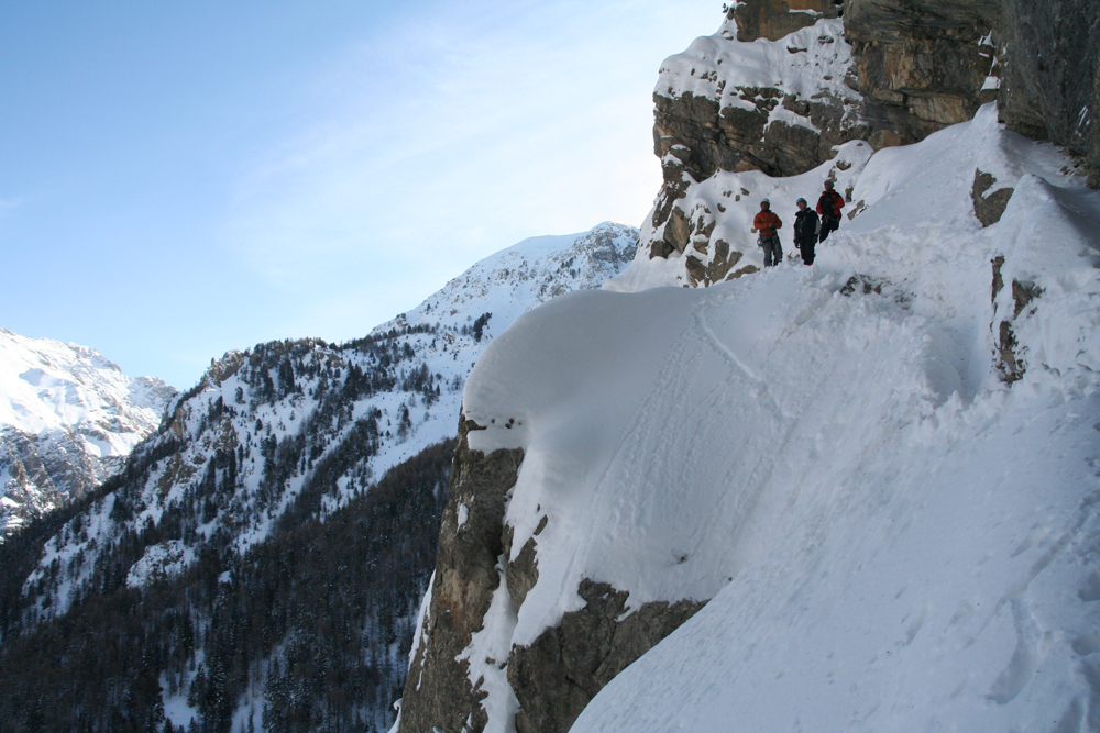 The scupture on icefall