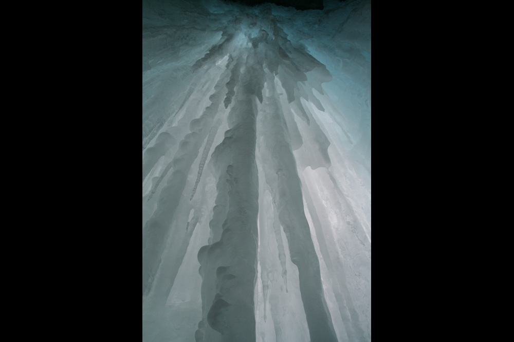 Under an icefall in Queyras