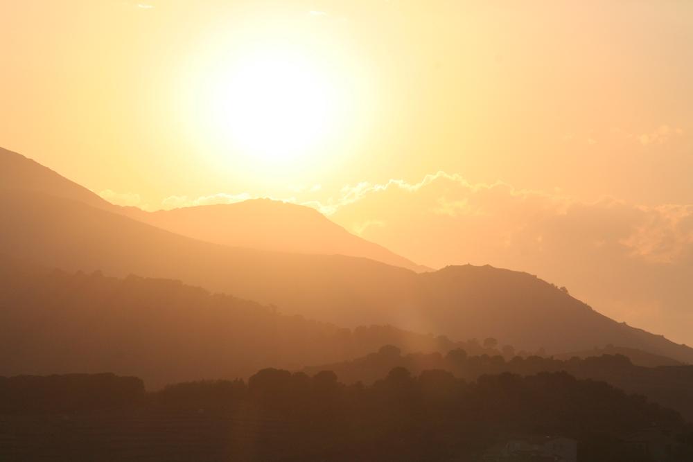 Soleil levant dans les Baronnies