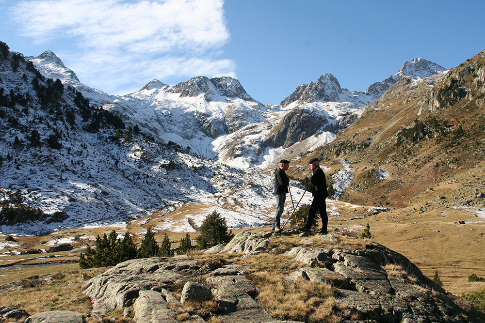 First snow in the Pyrenees National Park