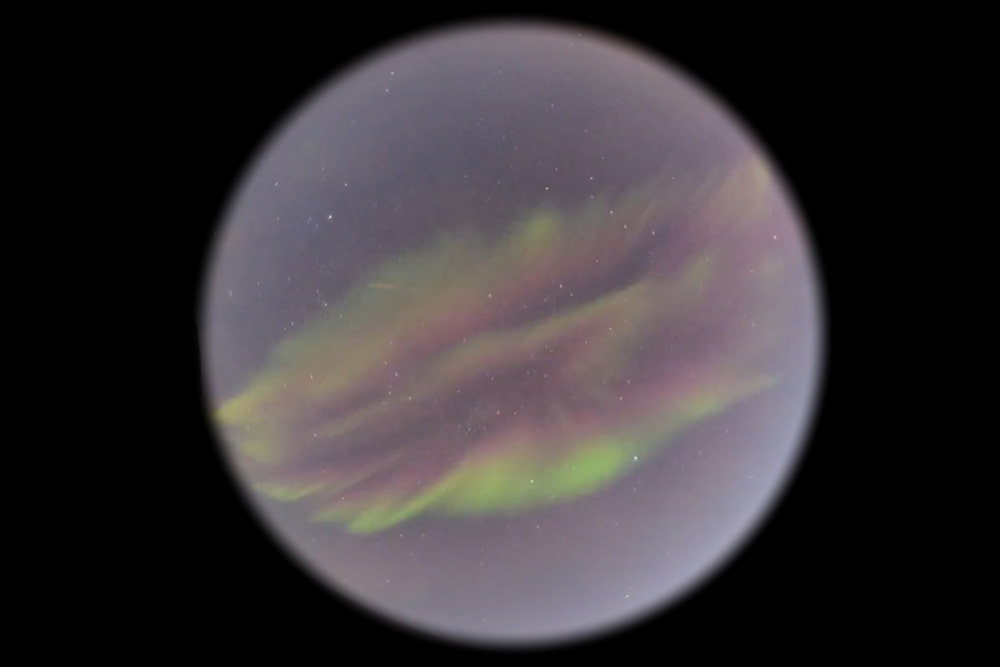 Aurora image realized with special equipment by Pål Ellingsen (KHO UNIS) Birkeland Center for Space