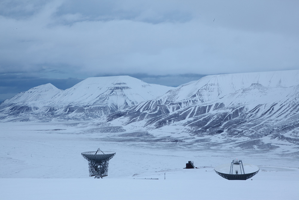 Near KHO, the EISCAT radar antennas, second part of the film