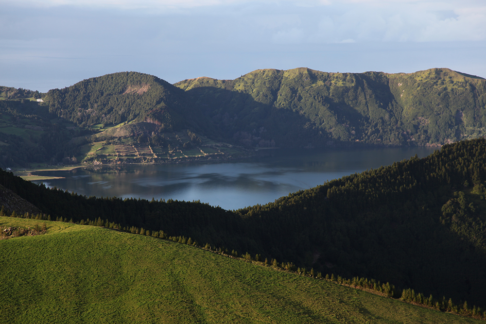 The old volcano and its lake on the island of São Miguel