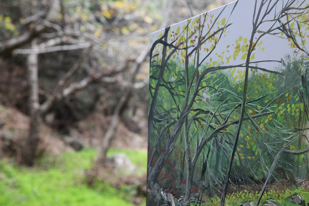 When art blends with nature …