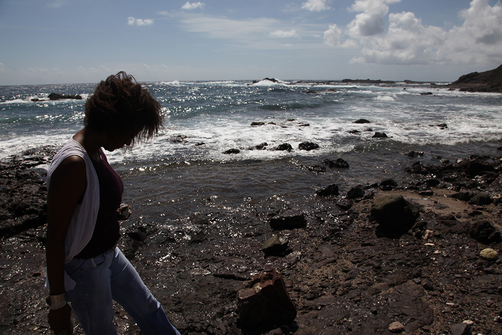 Danielle Jules in search of stones for jewelry
