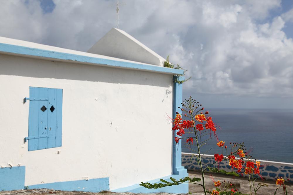 Isolated chapel on La Désirade