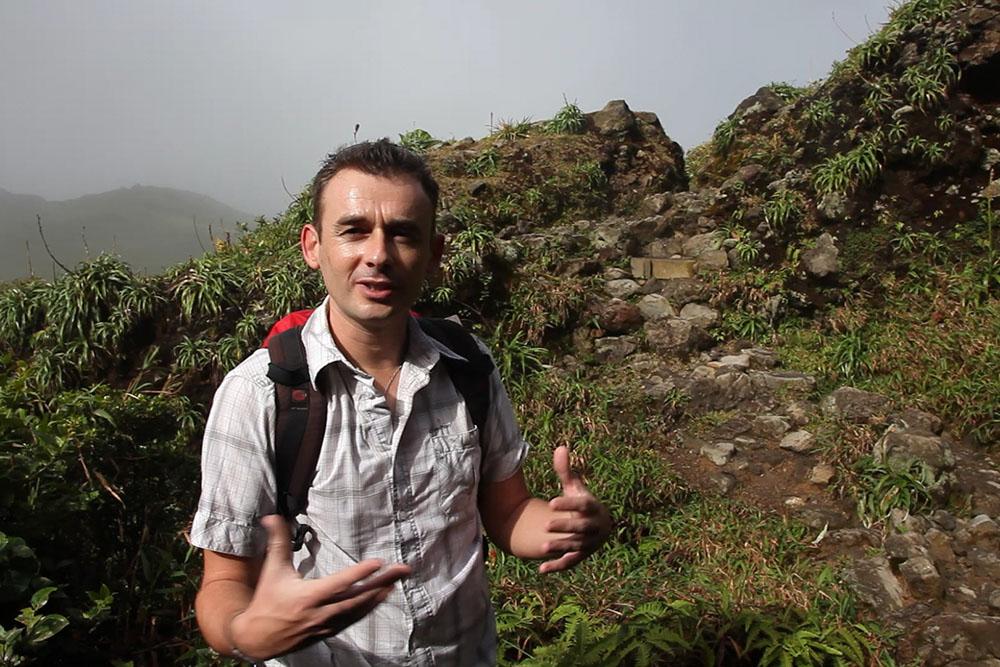 Erwan Bourdon, on the trail of La Soufrière